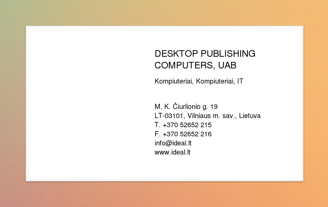 computer desktop publishing: